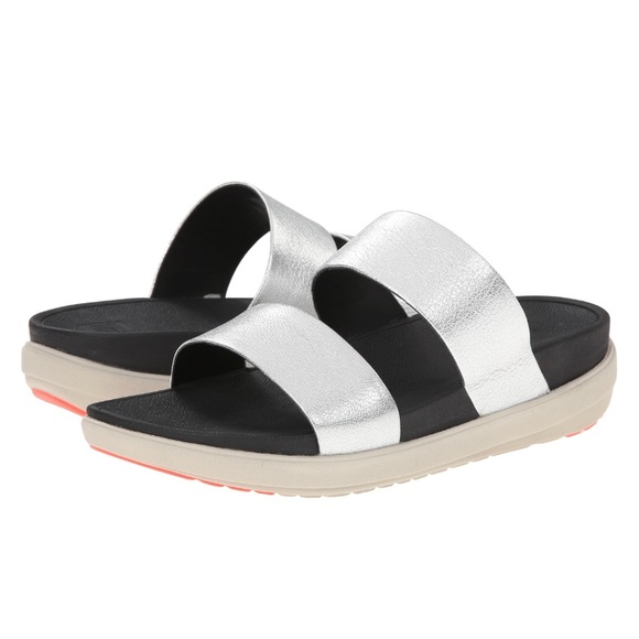 FitFlop FitFlop Loosh Slide Silver clearance best seller cheap really mk2RK